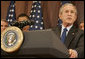 President George W. Bush addresses the audience Tuesday, Sept. 26, 2006, after signing into law S. 2590, the Federal Funding Accountability and Transparency Act of 2006, at the Dwight D. Eisenhower Executive Office Building. White House photo by Kimberlee Hewitt