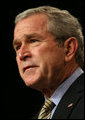 "President George W. Bush addresses the Reserve Officers Association Friday, Sept. 29, 2006. ""For more than 80 years, this organization has stood up for America and its citizen-soldiers, and I appreciate your contribution to our country,"" said the President. ""We're safer because you stand ready to put on the uniform. I am grateful for your service, and I am proud to be your Commander-in-Chief."" White House photo by Eric Draper"