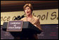 Mrs. Laura Bush speaks during a conference on school safety at the National 4-H Conference Center in Chevy Chase, Md., Tuesday, Oct. 10, 2006. White House photo by Shealah Craighead
