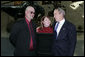 President George W. Bush meets with Dan and Deb Dunham, the parents of fallen U.S. Marine Corporal Jason Dunham of Scio, N.Y., Friday, Nov. 10, 2006 at the dedication ceremony of the National Museum of the Marine Corps in Quantico, Va. During the ceremony President Bush announced their son, who would have celebrated his 25th birthday Friday, will receive the Medal of Honor for his courageous actions in April 2004, when he gave his own life to protect his fellow Marines from the blast of an enemy grenade. White House photo by Paul Morse