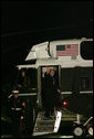 President George W. Bush and Laura Bush board Marine One on the South Lawn en route to Russia and Asia Tuesday, November 14, 2006. White House photo by Kimberlee Hewitt