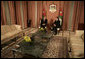 President George W. Bush and Jordan's King Abdullah II meet Wednesday, Nov. 29, 2006, at Raghadan Palace in Amman. White House photo by Eric Draper