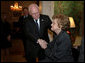 Vice President Dick Cheney greets former first lady Betty Ford at Blair House in Washington, D.C., Monday, January 1, 2007. White House photo by David Bohrer