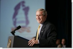 President George W. Bush addresses the House Republican Conference, Friday, Jan. 26, 2007 in Cambridge, Md. White House photo by Paul Morse