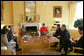 Mrs. Laura Bush hosts a tea for Alma Adamkus, the First Lady of Lithuania, in the White House residence Monday, Feb. 12, 2007. White House photo by Shealah Craighead