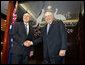 Vice President Dick Cheney and Prime Minister John Howard of Australia stand in the Prime Minister's Sydney office, Saturday, Feb. 24, 2007, before their joint press availability. White House photo by David Bohrer