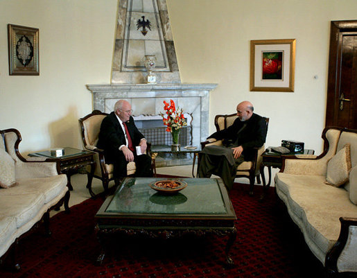 Vice President Dick Cheney meets with President of
