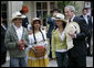 President George W. Bush joins Colombian coffee growers during his visit to the Presidential Palace in Bogotá, Colombia, Sunday, March 11, 2007. White House photo by Eric Draper