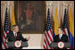 President George W. Bush and President Alvaro Uribe address the press Sunday, March 11, 2007, in Bogotá, Colombia. White House photo by Paul Morse