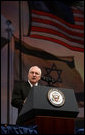 Vice President Dick Cheney delivers the keynote address at the American Israel Public Affairs Committee (AIPAC) 2007 Policy Conference, Monday, March 12, 2007 in Washington, D.C. The conference, organized to strengthen the U.S.-Israel relationship, consists of three days of policy speeches and includes over 6,500 participants from all fifty states. White House photo by David Bohrer