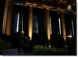 Vice President Dick Cheney delivers remarks, Tuesday, March 13, 2007, at the 2006 Malcolm Baldrige National Quality Award Ceremony in Washington, D.C. The award, established by Congress in 1987 and named in honor of former Commerce Secretary Malcolm Baldrige, recognizes organizations for achievements in quality and performance in fields such as manufacturing, service, small business, education and health care. White House photo by David Bohrer