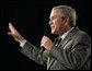 "President George W. Bush takes a variety of questions from the audience, including questions regarding the tragedy at Virginia Tech University, during a visit to Tipp City High School Thursday, April 19, 2007, in Tipp City, Ohio. ""One of the lessons of these tragedies is to make sure that when people see somebody, or know somebody who is exhibiting abnormal behavior, to do something about it, to suggest that somebody take a look; that if you are a parent and your child is doing strange things on the Internet, pay attention to it, and not be afraid to ask for help, and not be afraid to say, I am concerned about what I'm seeing,"" said President Bush. White House photo by Eric Draper"
