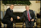 "President George W. Bush welcomes Prime Minister Lee Hsien Loong of Singapore to the Oval Office Friday, May 4, 2007. Said the President after their meeting, ""There is no better person to talk about the Far East with than Prime Minister Lee. He's got a very clear vision about the issues, the complications, and the opportunities."" White House photo by Eric Draper"