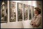Mrs. Laura Bush tours the photo exhibit, Mexico: The Revolution and Beyond, the Casasola Archives, Tuesday, May 8, 2007, at the Cultural Institute of Mexico in Washington, D.C., part of the Cinco de Mayo Program of Cultural Events on view at the institute. The photo exhibit includes 96 photographs taken between 1900-1940, belonging to the Casasola Archives, covering important years of Mexican history. White House photo by Shealah Craighead