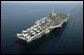 The Nimitz-class nuclear-powered supercarrier USS John C. Stennis is seen Friday, May 11, 2007. Currently deployed to the Persian Gulf, the carrier welcomed Vice President Dick Cheney for a classified briefing and rally for the troops. White House photo by David Bohrer