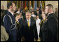 "President George W. Bush attends a commissioning ceremony for Joint Reserve Officer Training Corps Thursday, May 17, 2007, in the East Room. ""You come from different backgrounds; you represent all 50 states and the District of Columbia, as well as Guam, Puerto Rico, American Samoa and the U.S. Virgin Islands,"" said President Bush. ""And when you leave here today, you will wear on your shoulders the same powerful symbol of achievement: the gold bars of an officer of the United States Armed Forces."" White House photo by Joyce Boghosian"