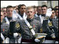 "Cadets from the U.S. Military Academy Class of 2007 take the oath of office Saturday, May 26, 2007, during graduation ceremonies in West Point, N.Y. ""Your country has prepared you, and now your country is counting on you,"" the Vice President said during his commencement address, adding, ""I know that each one of you will serve with skill, and carry yourself with honor, and take care of your soldiers, because that is the way of the West Point officer."" White House photo by David Bohrer"