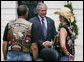 President George W. Bush welcomes members of the Rolling Thunder motorcycle organization to the White House Sunday, May 27, 2007. This Memorial Day marks Rolling Thunder's 20th year supporting U.S. troops at home, abroad and missing in action. White House photo by Chris Greenberg