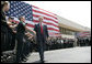 "President George W. Bush greets students and staff after delivering remarks Tuesday, May 29, 2007, on immigration reform during a visit to the Federal Law Enforcement Training Center in Glynco, Ga. The President thanked his audience, saying: ""I appreciate the folks at FLETC that I met that are working the border and helping train people to secure this border of ours."" White House photo by Eric Draper"