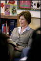 Mrs. Laura Bush talks with students at Washington Middle School for Girls Tuesday, May 29, 2007, in Washington, D.C. White House photo by Shealah Craighead