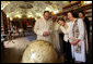 Mrs. Laura Bush and Mrs. Livia Klausova, First Lady of Czech Republic, tour the Strahov Archives and Library Tuesday, June 5, 2007, in Prague, Czech Republic. More than 800 years old, it is home to more than 16,000 books. White House photo by Shealah Craighead