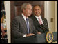 President George W. Bush introduces former Iowa Rep. Jim Nussle Tuesday, June 19, 2007 in the Roosevelt Room, as his nominee to be the new director of the Office of Management and Budget replacing outgoing director Rob Portman. White House photo by Debra Gulbas