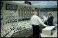 President George W. Bush tours the control room at Browns Ferry Nuclear Plant Thursday, June 21, 2007, in Athens, Ala. White House photo by Chris Greenberg