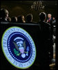 President George W. Bush addresses the audience at the Gaylord Opryland Resort and Convention Center Thursday, July 19, 2007 in Nashville, Tenn., stressing the importance of fiscal responsibility. White House photo by Chris Greenberg