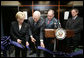 Vice President Dick Cheney and Mrs. Lynne Cheney cut the ceremonial ribbon, Monday, July 30, 2007, to inaugurate the Richard B. and Lynne V. Cheney Cardiovascular Institute at The George Washington University in Washington, D.C. The Institute's mission is to promote clinical research, education, patient care and community service with the goal of accelerating the pace of scientific discovery, reducing mortality and improving the quality of life of Americans with cardiovascular disease. White House photo by David Bohrer