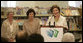 Mrs. Laura Bush delivers remarks at the Westbank Community Library in Austin, Tuesday, August 14, 2007, where the construction of the Laura Bush Community Library was announced.