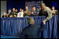 President George W. Bush shakes hands with military personnel attending the American Legion 89th Annual Convention Tuesday, Aug. 28, 2007, in Reno, Nev. following his speech to Legion members. White House photo by Chris Greenberg