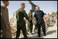 President George W. Bush greets U.S. Military personnel at Al Asad Airbase, Al Anbar Province, Iraq, Monday, September 3, 2007. White House photo by Eric Draper