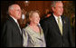 President George W. Bush stands with Prime Minister John Howard of Australia, and his wife, Janette Howard, after arriving at the Sydney Opera House Saturday, Sept. 8, 2007, for the APEC dinner. White House photo by Chris Greenberg