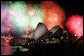 Fireworks burst over the Sydney Opera House Saturday, Sept, 7, 2007, during a dinner display in celebration of the opening of the Asian-Pacific Economic Cooperation summit. White House photo by Chris Greenberg