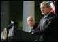 "President George W. Bush announces his nomination Monday, Sept. 17, 2007, of Judge Michael Mukasey to be Attorney General of the United States in the Rose Garden of the White House. Said the President: ""With Mike Mukasey, the Justice Department will be in the hands of a great lawyer and an accomplished public servant."" White House photo by Chris Greenberg"