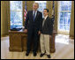 "President George W. Bush stands with 14-year-old Evan O'Dorney, the 2007 Scripps Spelling Bee Champion. The Danville, California, home-schooled teenager won the national competition in May by correctly spelling the word ""serrefine."" He and his parents visited the Oval Office Monday, Sept. 17, 2007. White House photo by Joyce N. Boghosian"