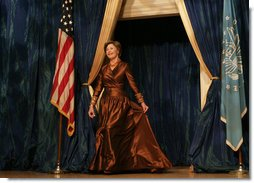 Laura Bush is introduced at the National Book Festival Gala Performance Friday, Sept. 28, 2007, where she delivered remarks at the Library of Congress in Washington D. C. White House photo by Joyce N. Boghosian