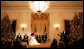 President George W. Bush addresses the audience Sunday, Dec. 2, 2007, as he introduces the 2007 Kennedy Center Honorees in the East Room during a reception in their honor at the White House. From left are: Brian Wilson, Martin Scorsese, Diana Ross, Steve Martin and Leon Fleisher. White House photo by Eric Draper