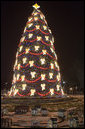 The National Christmas Tree is lit on the Ellipse in Washington, D.C., Thursday, Dec. 6, 2007. White House photo by Joyce N. Boghosian