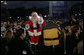 Santa Claus arrives on the Ellipse in Washington, D.C., Thursday, Dec. 6, 2007, for the lighting of the National Christmas Tree. White House photo by Shealah Craighead