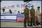 Soldiers stand at attention at Ben Gurion International Airport Wednesday, Jan. 9, 2008, as the arrival ceremonies welcoming President George W. Bush to Israel got under way. White House photo by Chris Greenberg