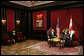 President George W. Bush and Bahrain's King Hamad Bin Isa Al-Khalifa meet Saturday, Jan. 12, 2008, in the Ritz Carlton-Bahrain before participating in a working dinner. White House photo by Chris Greenberg