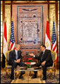 President George W. Bush meets with Egyptian President Hosni Mubarak in Sharm El Sheikh South Sinai, Egypt, Wednesday, Jan. 16, 2008. White House photo by Eric Draper