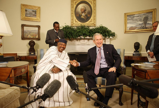 george bush oval office. president george w bush and mali amadou tour meet in the oval office tuesday