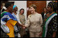 Mrs. Laura Bush is welcomed on her arrival to the WAMA Foundation Sunday, Feb. 17, 2008 in Dar es Salaam, Tanzania, for a meeting to launch the National Plan of Action for Orphans and Vulnerable Children. White House photo by Shealah Craighead