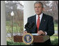"President George W. Bush delivers a statement on the economy Friday, March 7, 2008, at the White House. Said the President, ""I know this is a difficult time for our economy, but we recognized the problem early, and provided the economy with a booster shot. We will begin to see the impact over the coming months. And in the long run, we can have confidence that so long as we pursue pro-growth, low-tax policies that put faith in the American people, our economy will prosper."" White House photo by Chris Greenberg"
