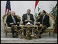 "Vice President Dick Cheney meets with Iraqi Prime Minister Nouri al-Maliki Monday, March 17, 2008 at the Prime Minister's residence in Baghdad. In remarks following their meeting, the Vice President said, ""I was last in Baghdad 10 months ago, and I can sense as a result of the progress that's been made since then that there have been some phenomenal changes, in terms of the overall situation, both with respect of the security situation, where Iraqi and American forces have done some very good work, as well as with respect to political developments here in Iraq."" White House photo by David Bohrer"