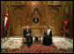 Vice President Dick Cheney meets with Sultan Qaboos bin Said of Oman Wednesday, March 19, 2008 in Muscat. The visit to Muscat is the second stop on a 10-day trip to the Middle East and Turkey. White House photo by David Bohrer
