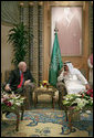 Vice President Dick Cheney meets with Saudi Arabia's King Abdullah bin Abd al-Aziz Saud Friday, March 21, 2008 at the King's ranch outside Riyadh, Saudi Arabia. White House photo by David Bohrer