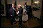 Vice President Dick Cheney talks with former Prime Minister Benjamin Netanyahu Sunday, March 23, 2008, before a breakfast with the Israeli leader at the Kind David Hotel in Jerusalem. White House photo by David Bohrer